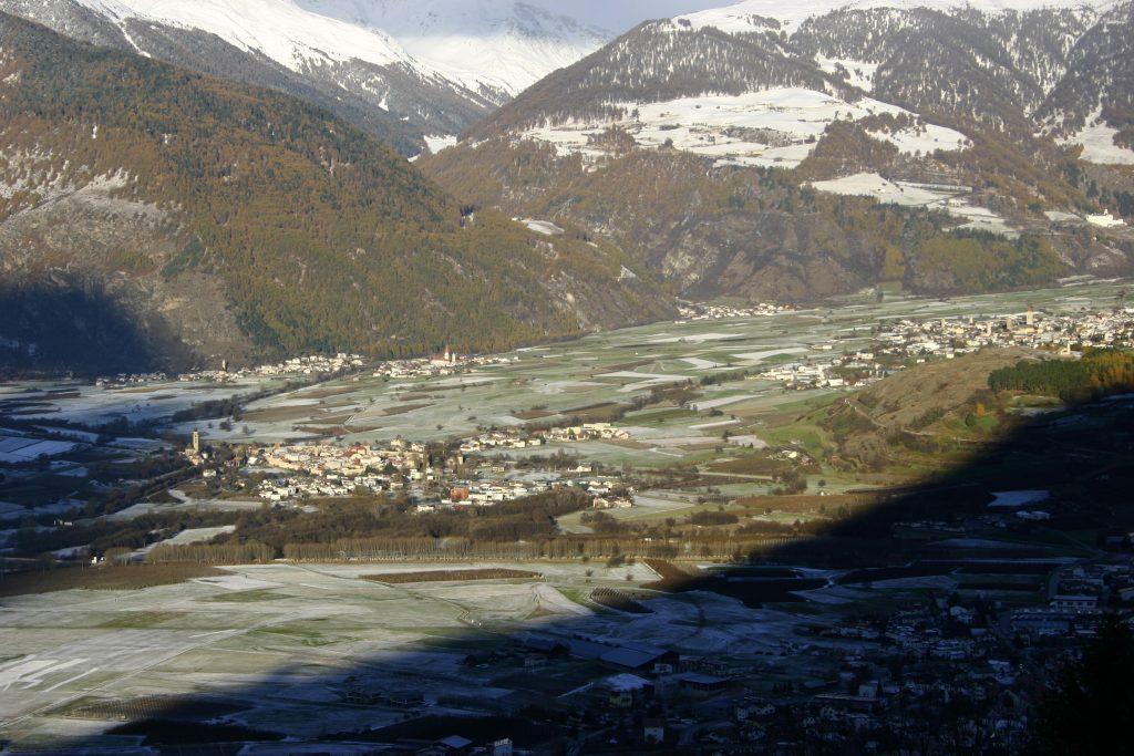 Het uitzicht vanaf het Patztauhof.